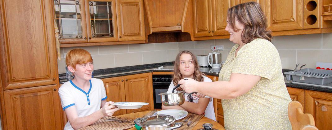 Famiglia ospitante per ragazzi
