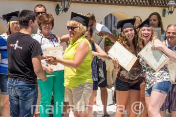 Al termine del corso di inglese gli studenti ricevono un certificato