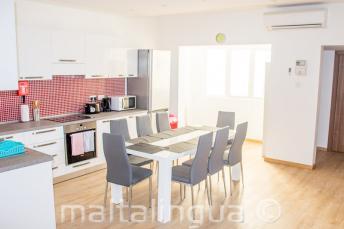 Cucina e sala da pranzo della scuola