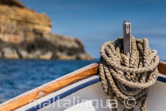 La prua di una barca tradizionale maltese.