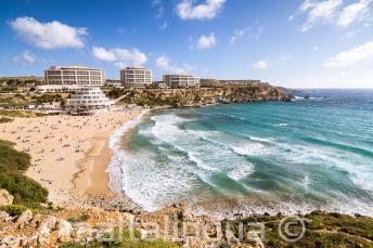 Spiaggia di Golden Bay a Malta