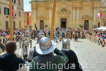 Rievocazione di una battaglia medievale a Mdina