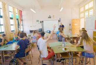 Le aule nella scuola estiva