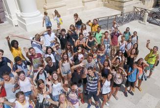 Studenti a Valletta
