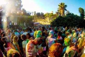 Festa Holi colour in Malta